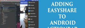 Easy share using android action bar
