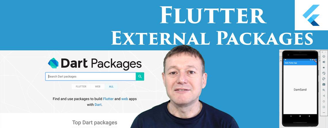 Flutter adding external packages