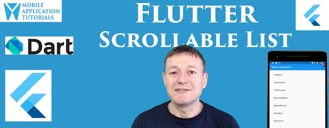 Flutter scrolling ListView tutorial