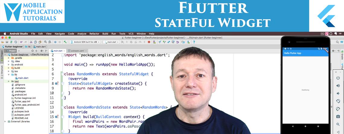 Flutter StatefulWidget tutorial